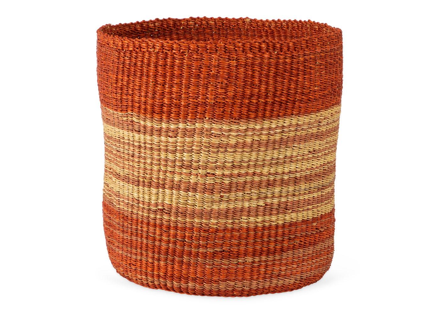 As Shown: Handwoven Storage Basket in Orange