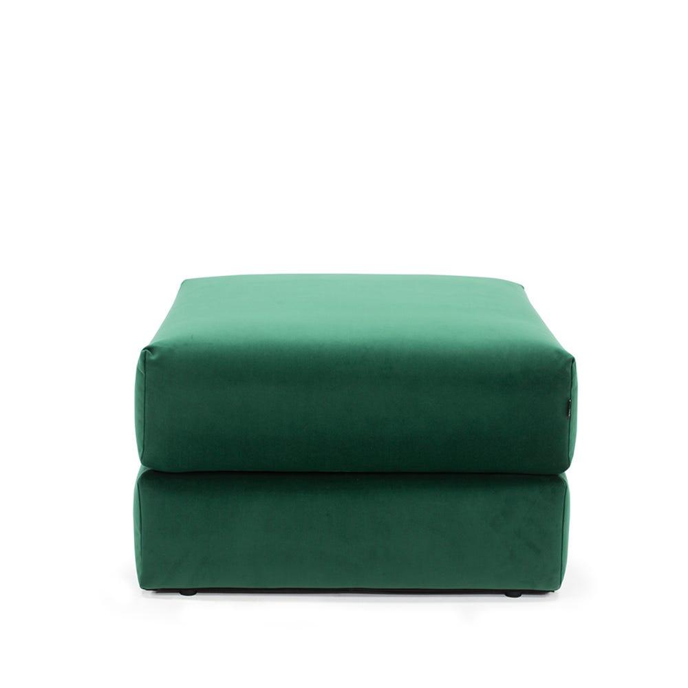 Oswald Storage Footstool Velvet Forest Green