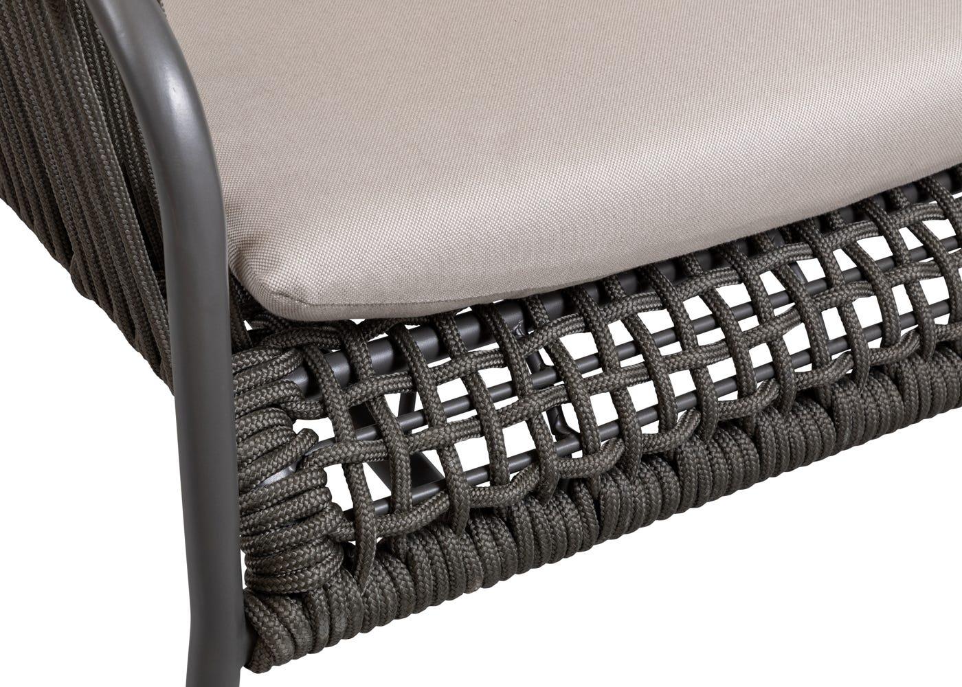As shown: Padded cushion.