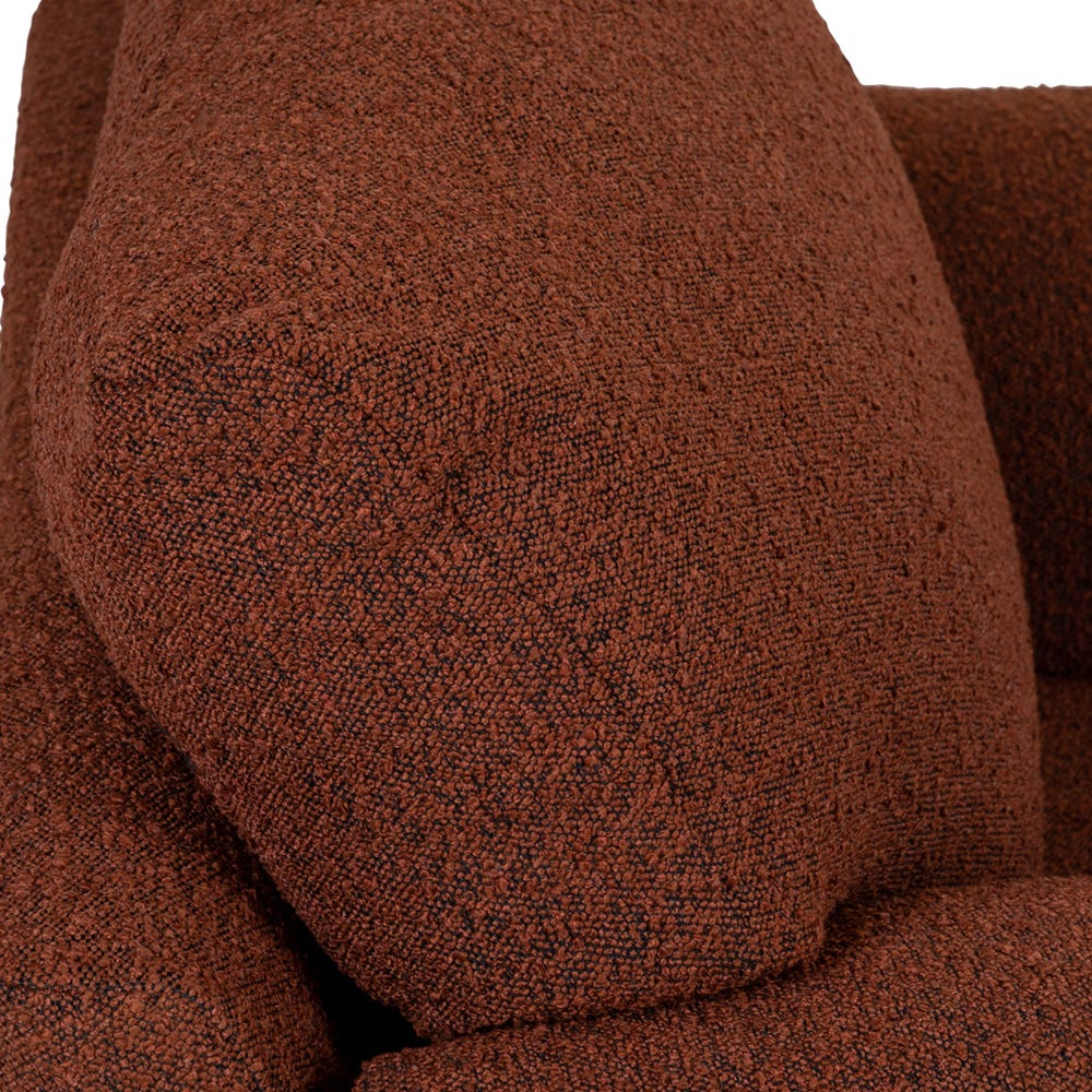 Back cushions with high density foam will keep their shape for years to come