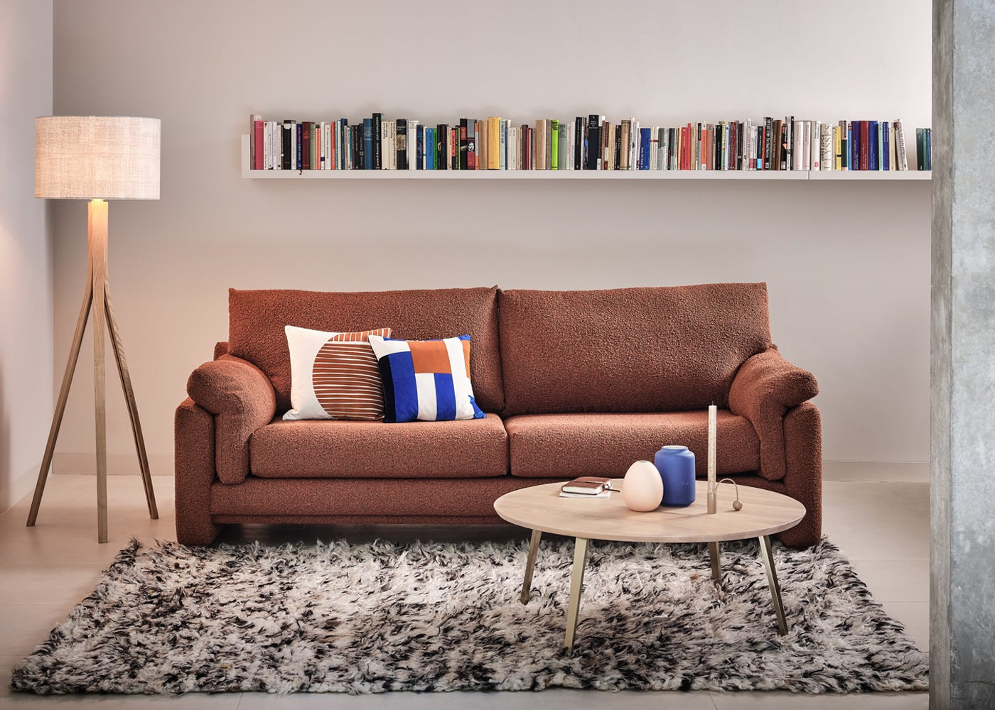 Paris 3 Seater in Chunky Boucle Brick