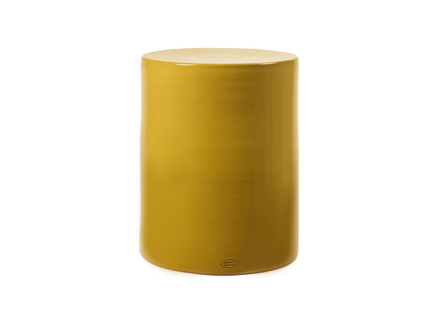 As shown: Pawn side table in ochre.
