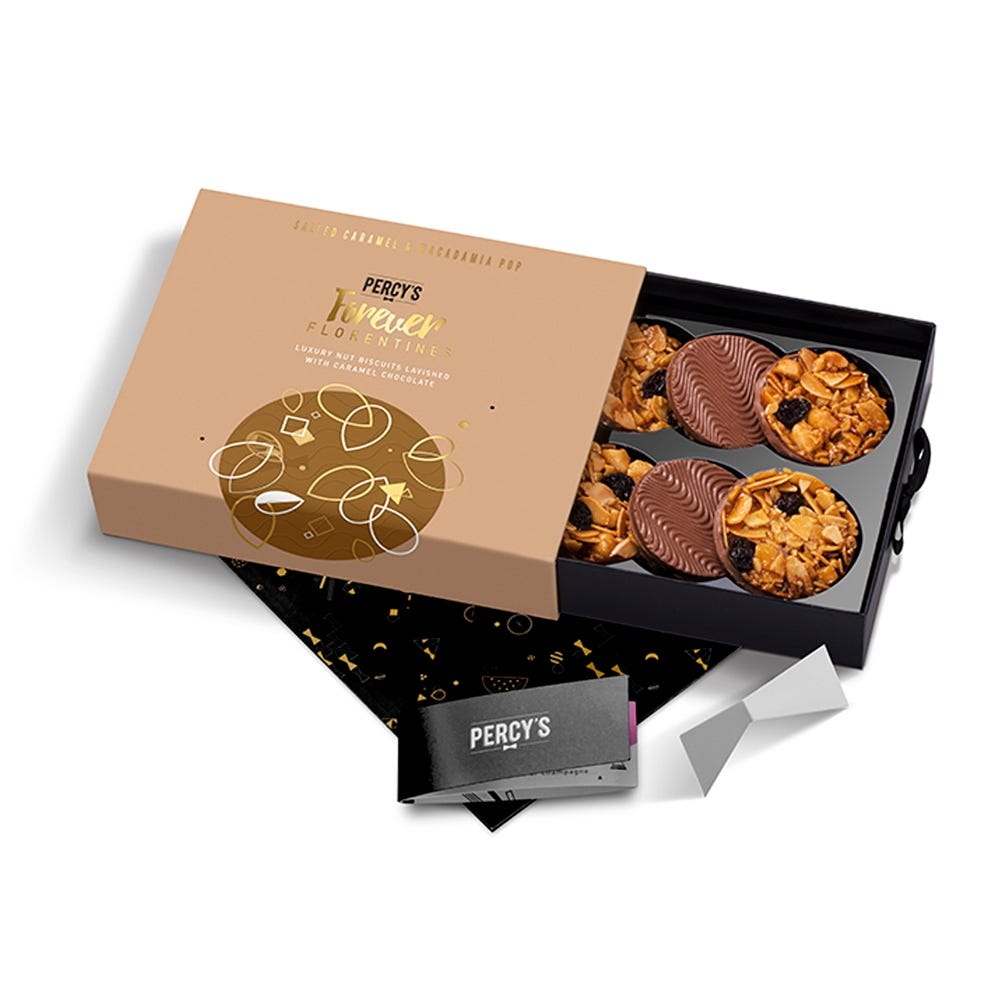 Percy's Bakery Biscuits Salted Caramel & Macadamia Pop Florentines