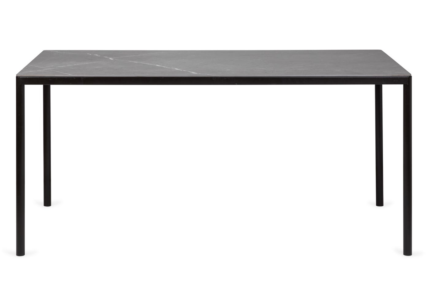 As shown: Petra outdoor dining table - Front profile.