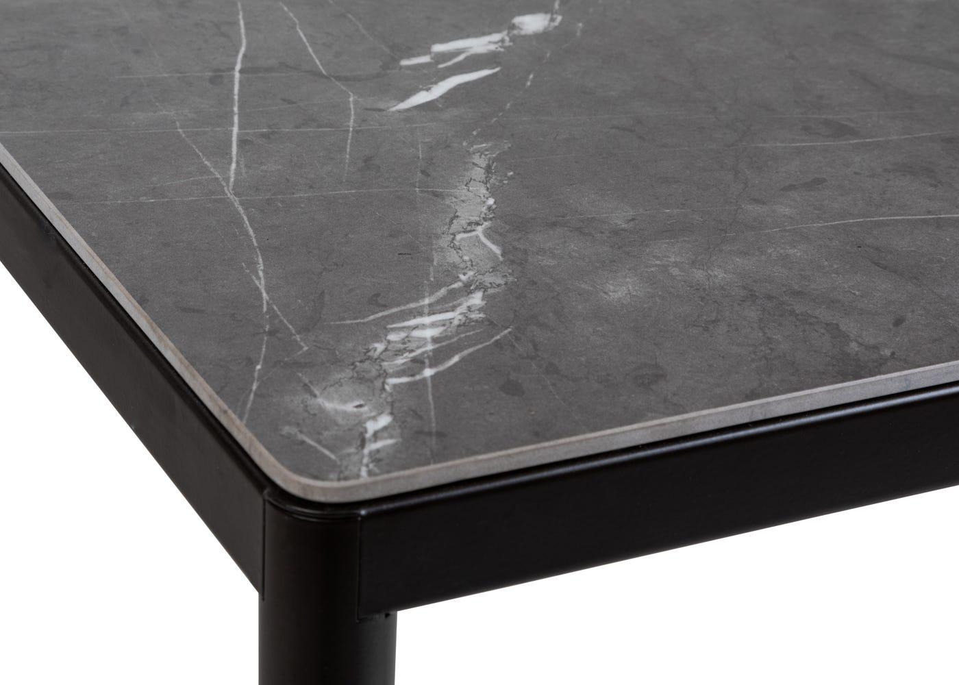 As shown: Natural Italian ceramic table top.