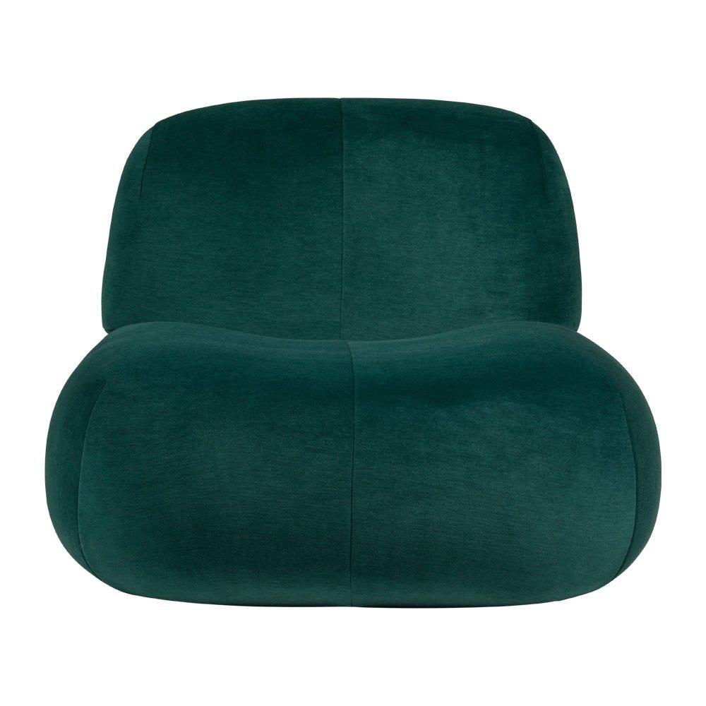 Pukka Armchair in Wool Blend Green Fabric Gentle 973