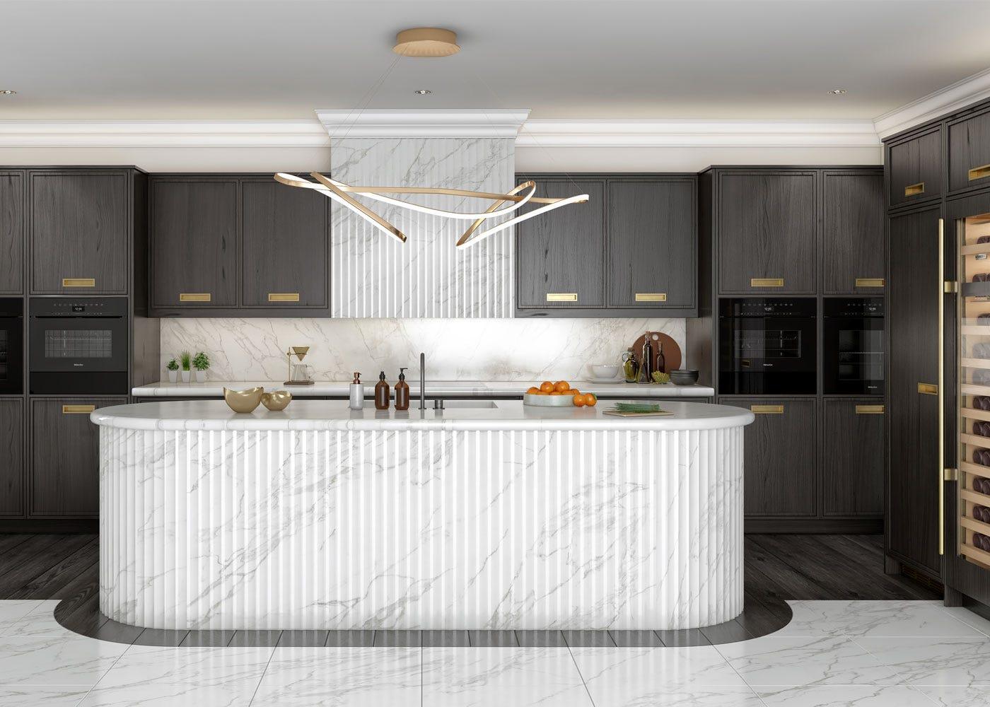 As shown: RIbbon LED Ceiling Pendant XL Satin Gold.