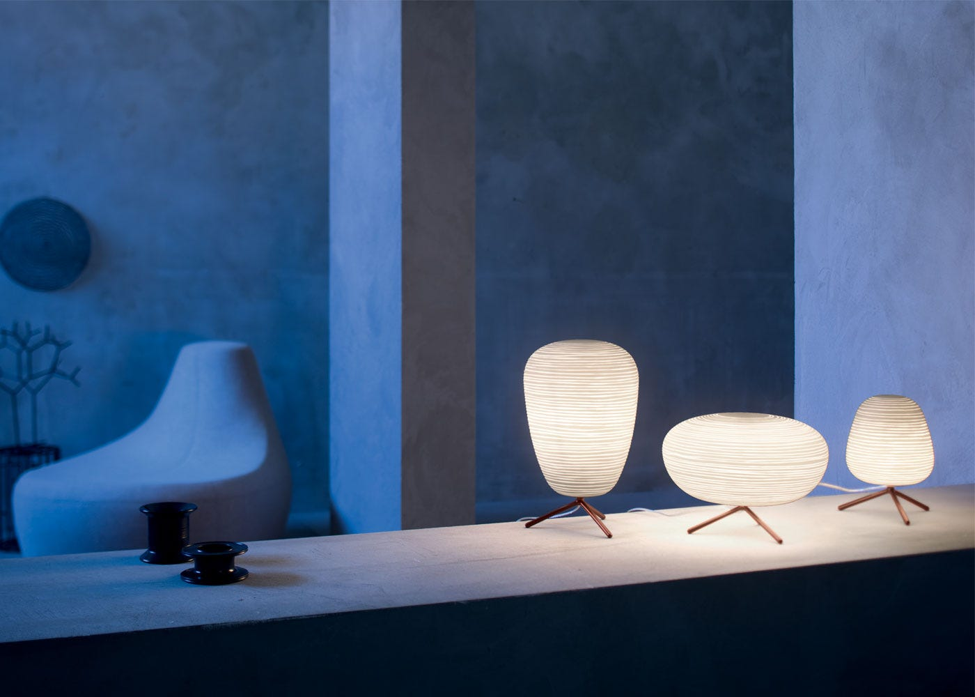 As shown: Ritual table lamp collection.