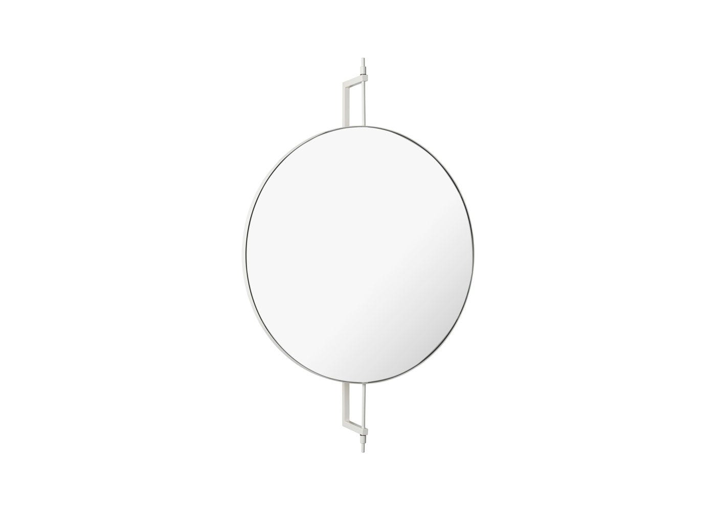 As Shown: Round Rotating Mirror in Beige