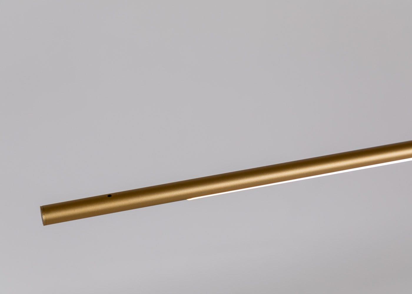 As Shown: Saber LED Long Pendant Gold