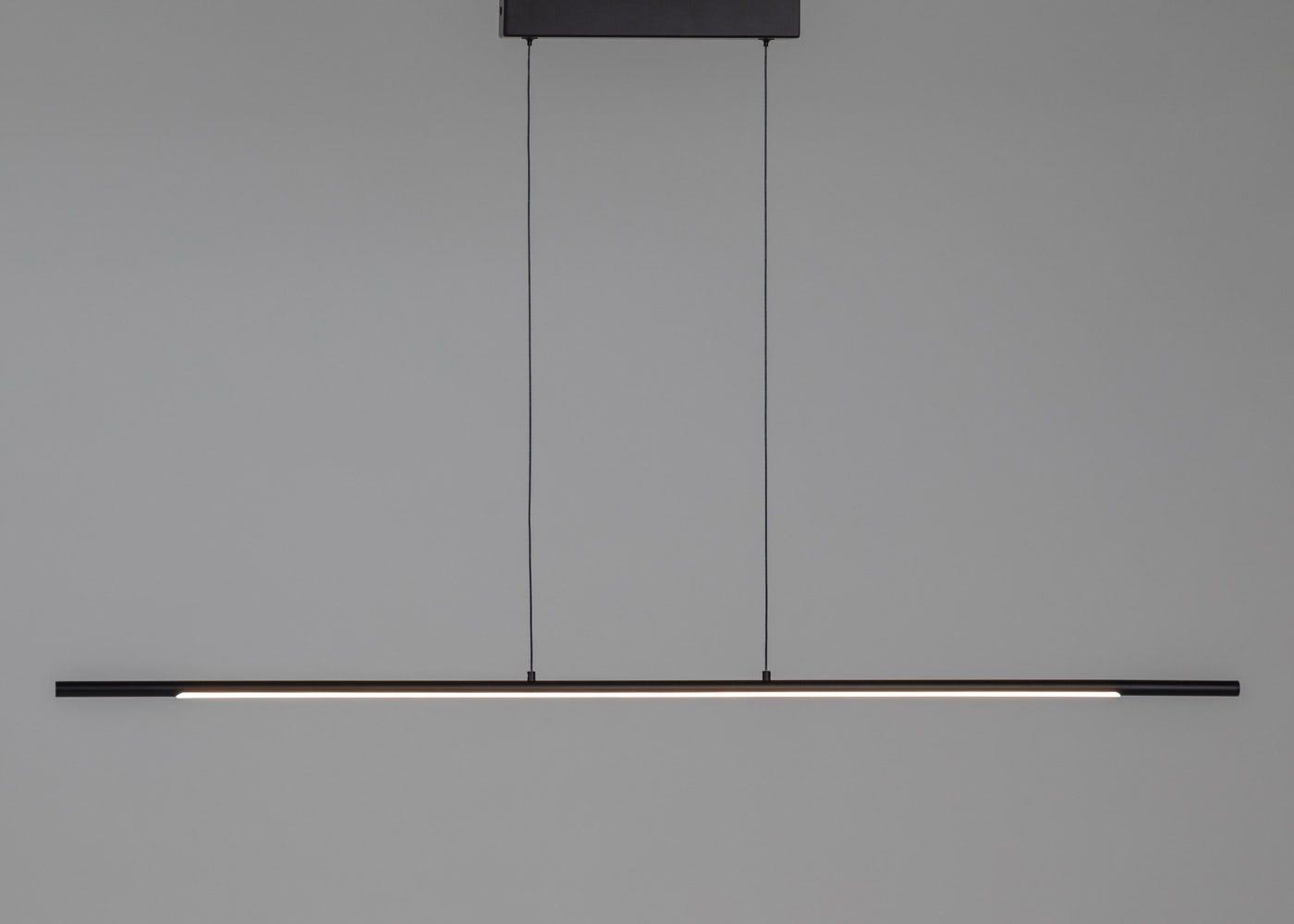 As Shown: Saber LED Long Pendant Black On