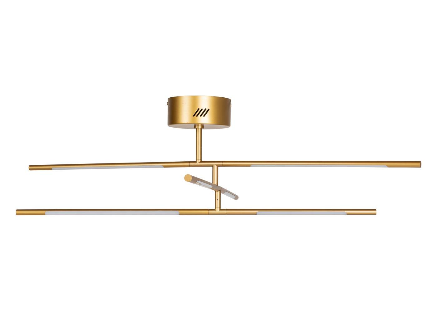 As Shown: Saber LED Flush Chandelier Gold