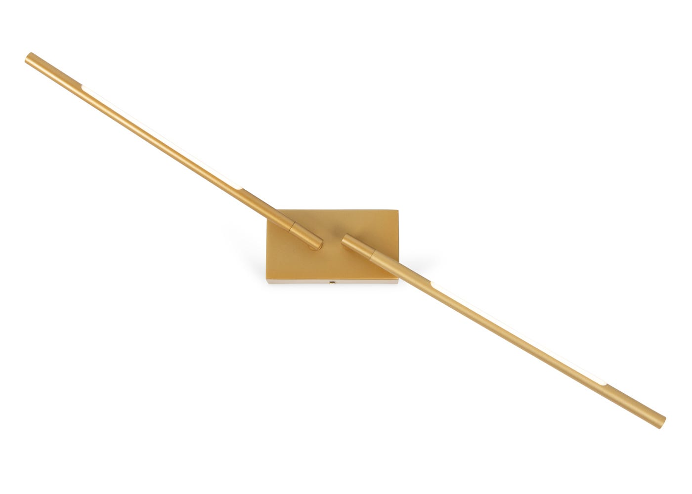 As shown: Saber LED wall light in gold can be moved into multiple positions.