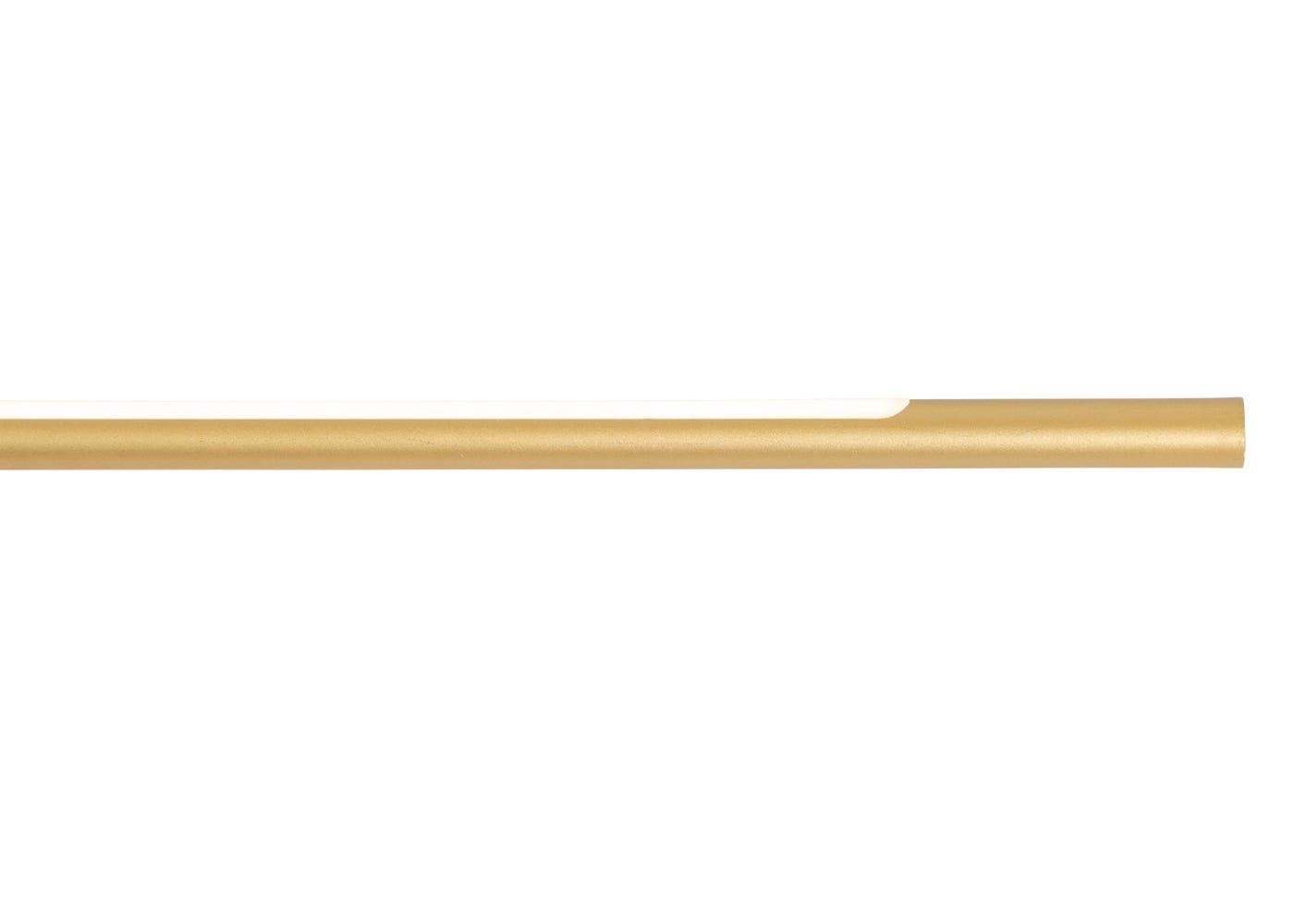 As shown: Slim steel arm in gold.