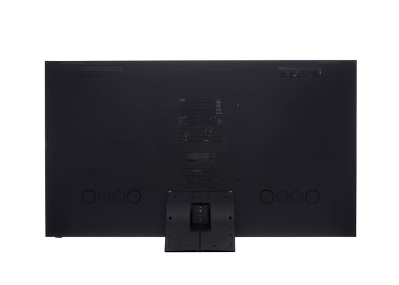 As shown: Samsung 2020 75 Q950TS Flagship QLED 8K HDR 4000 Smart TV - Rear profile.
