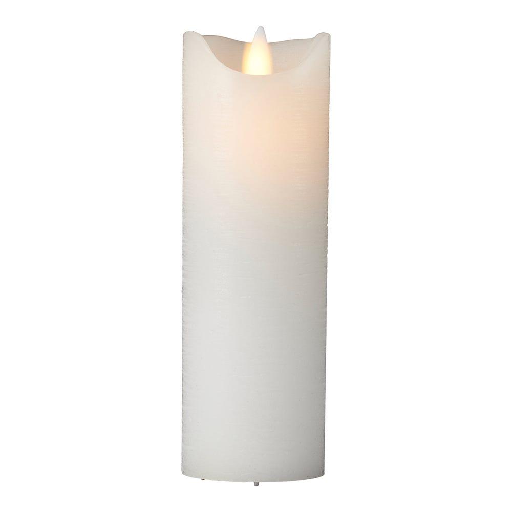 Sara Flameless Candle White 25cm