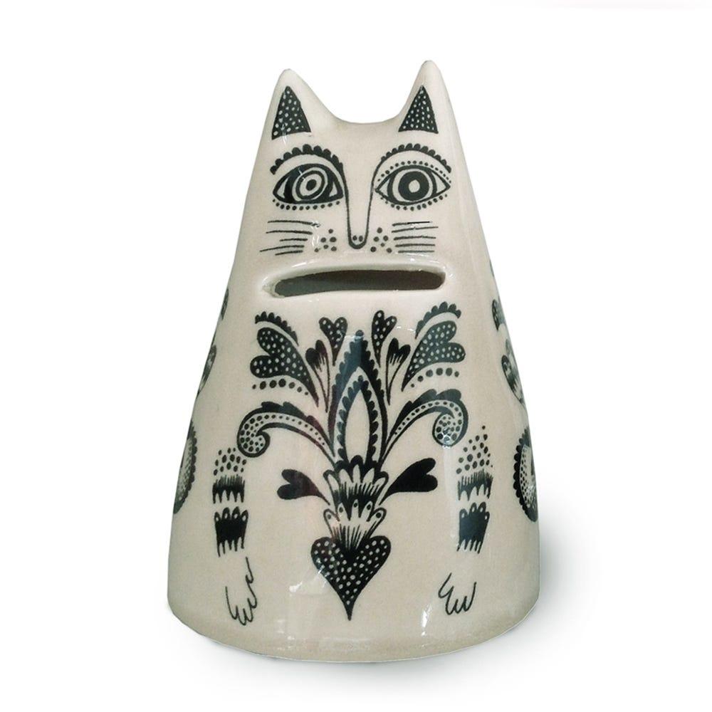 Lush Designs KIKI Cat Money Jar Cream