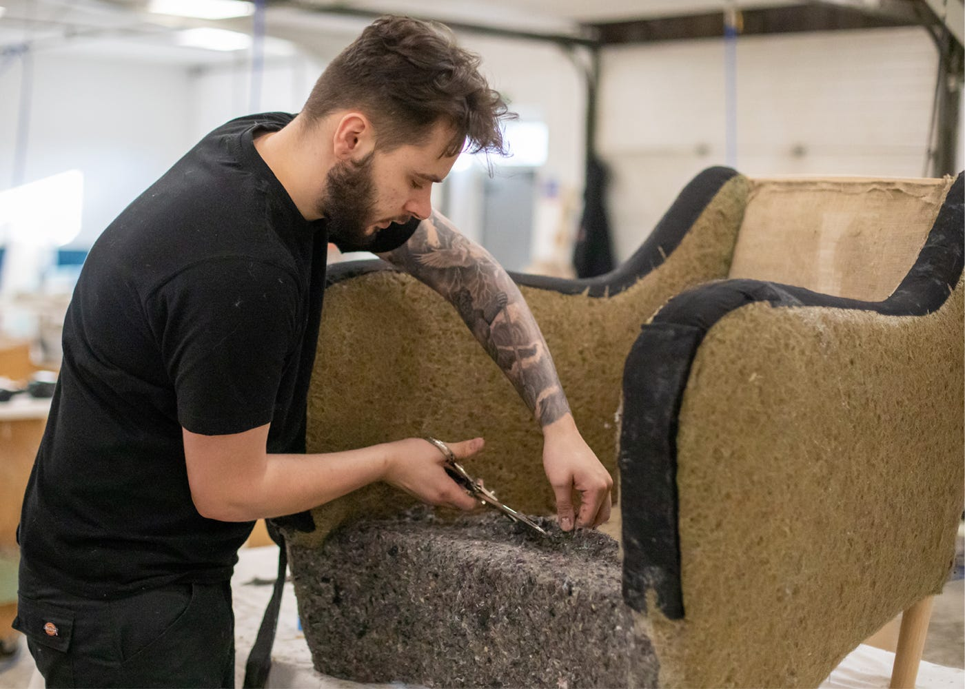 Only expert upholsterers are trusted to create this iconic piece