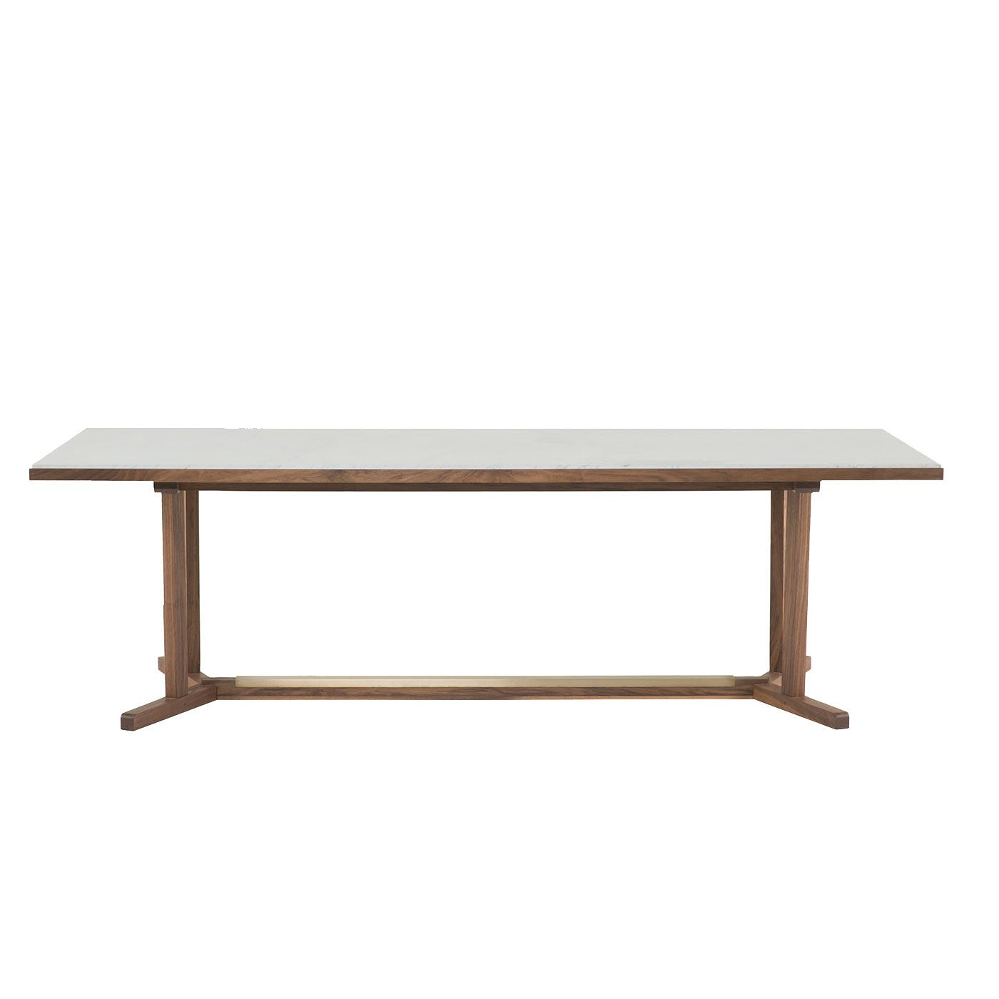 Shaker Dining Table 6-8 Seater Walnut, Marble Top