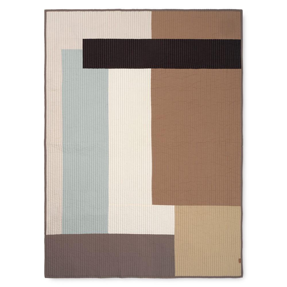 Shay Patchwork Quilt Desert 130 x 180cm