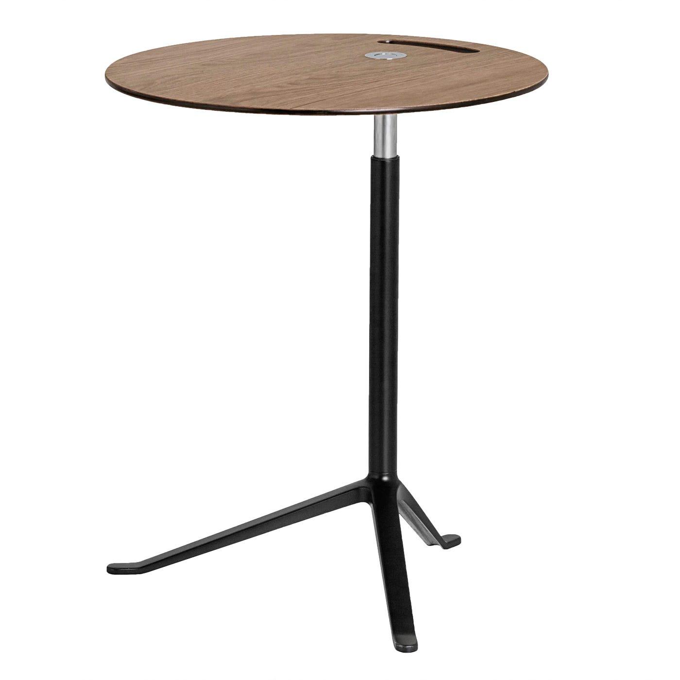 Little Friend Side Table Fixed Height Oak Black Base