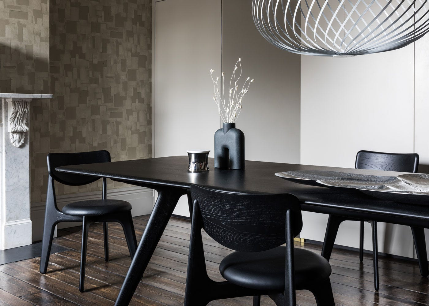 Slab dining table & chairs