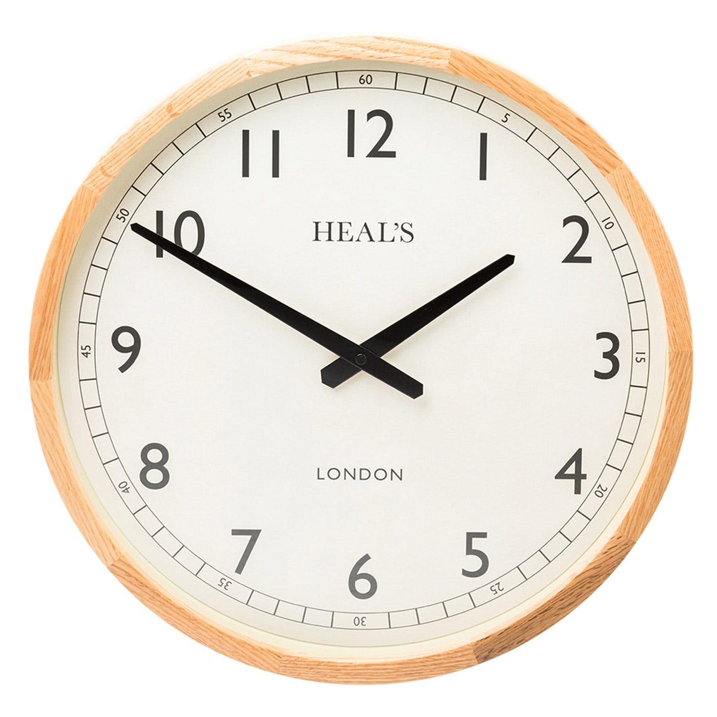Heals Solid Oak Cased Clock