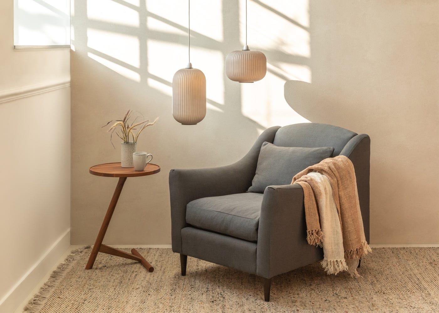 Somerset Armchair in Linen Dark Grey