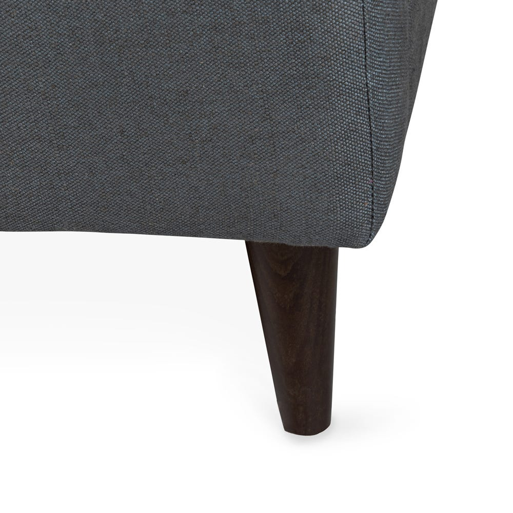 Slim tapered legs available in natural or with a dark stain