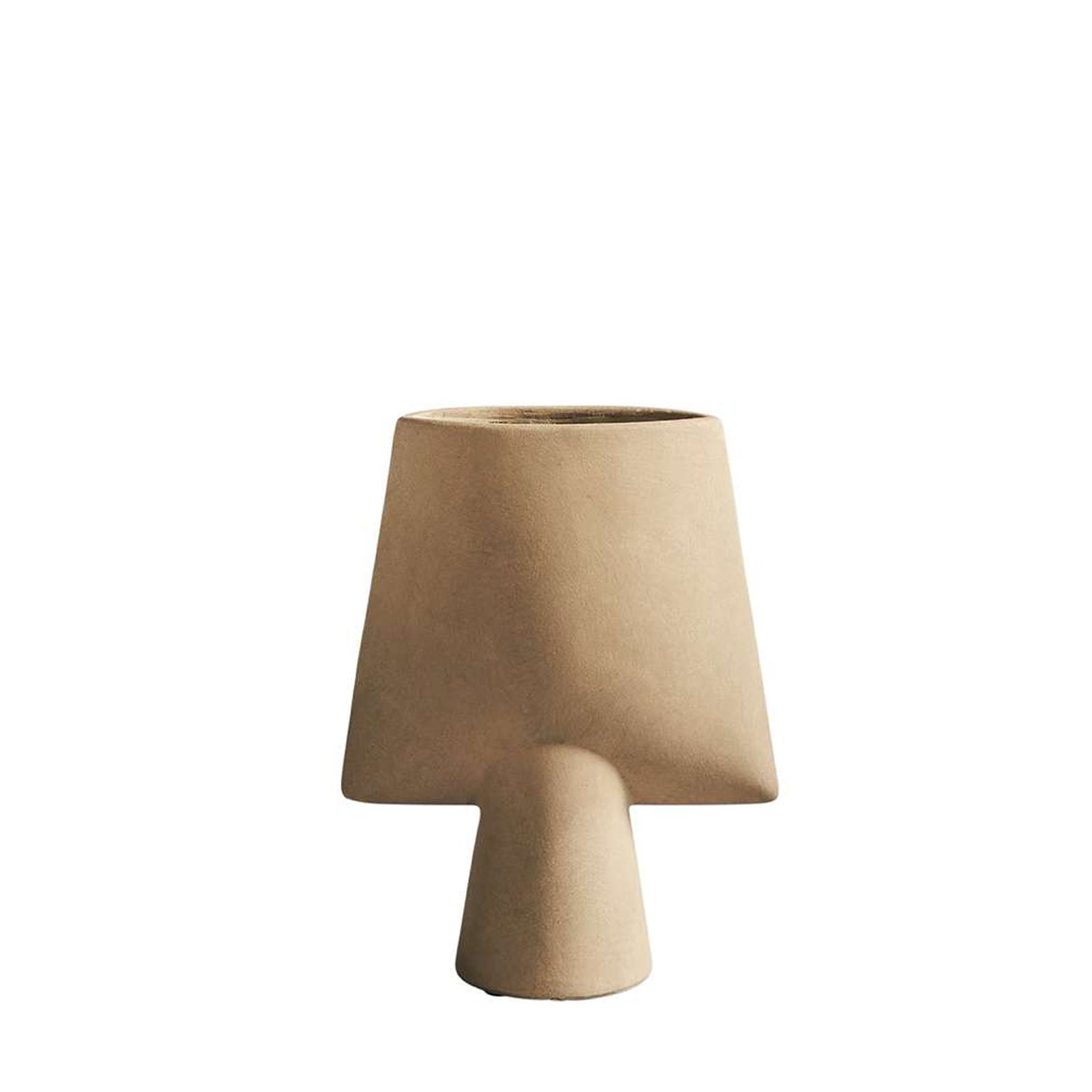 Square Vase Sand Small