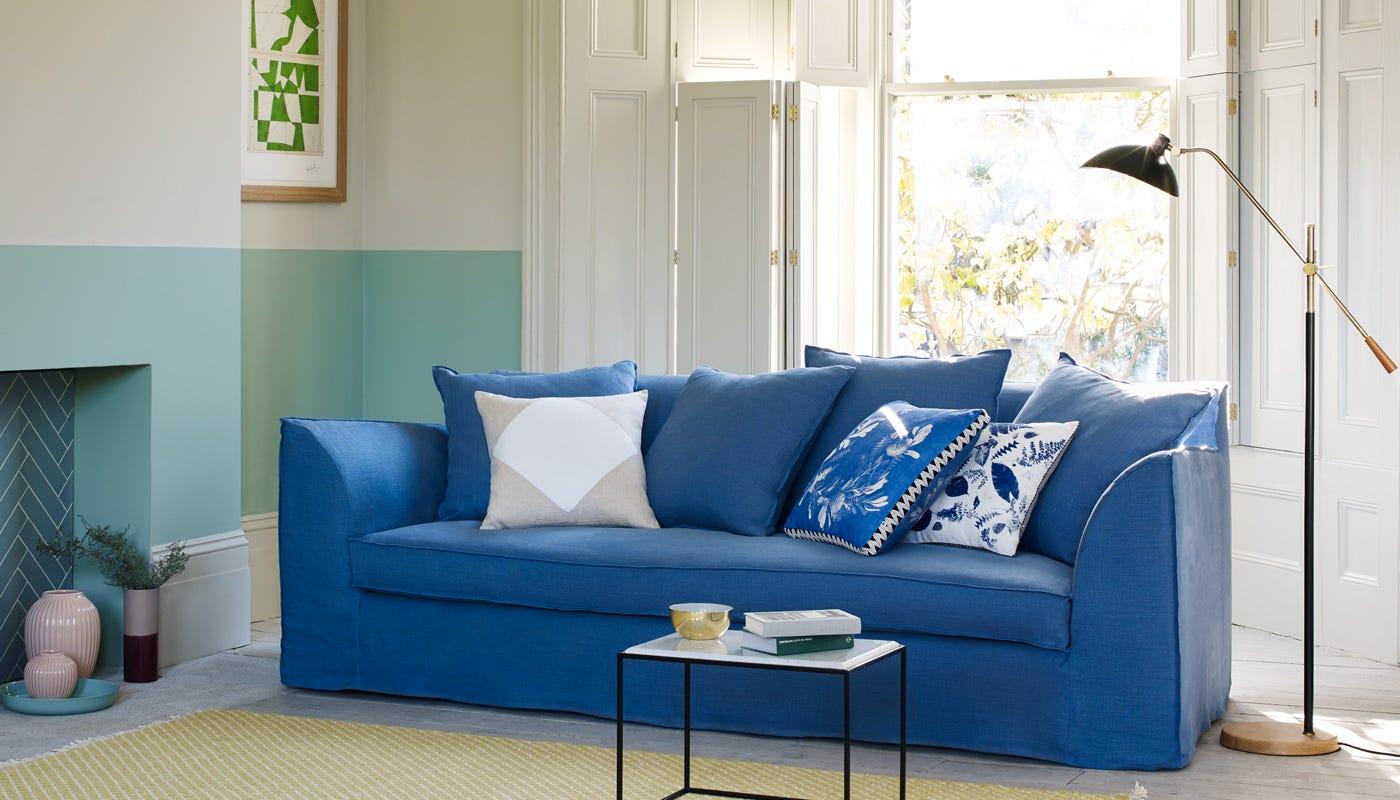 Botany Cushion Blue Cushions Soft Furnishings Home Accessories