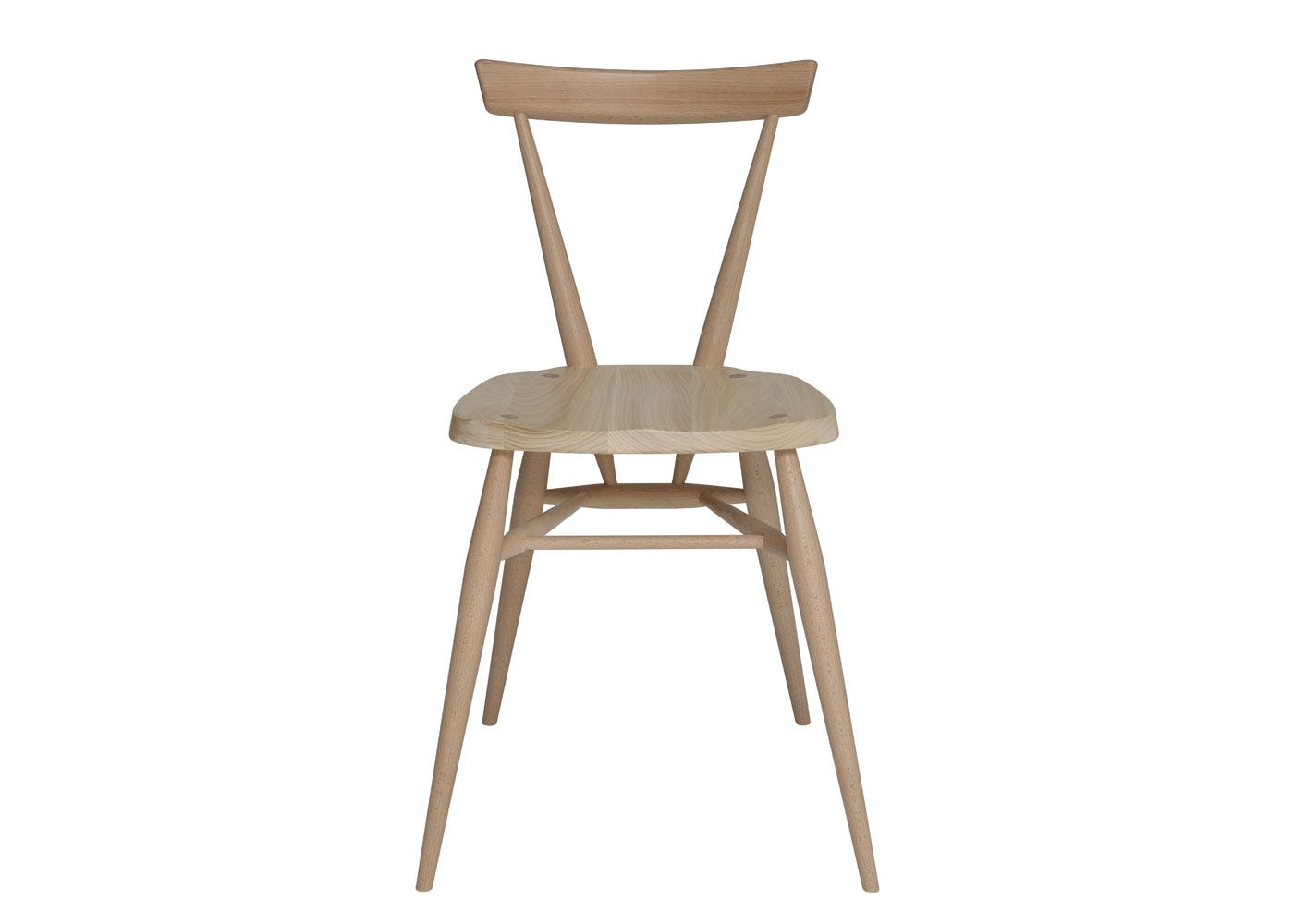 As shown: Originals Stacking Chair Beech and Elm  - Front Profile.