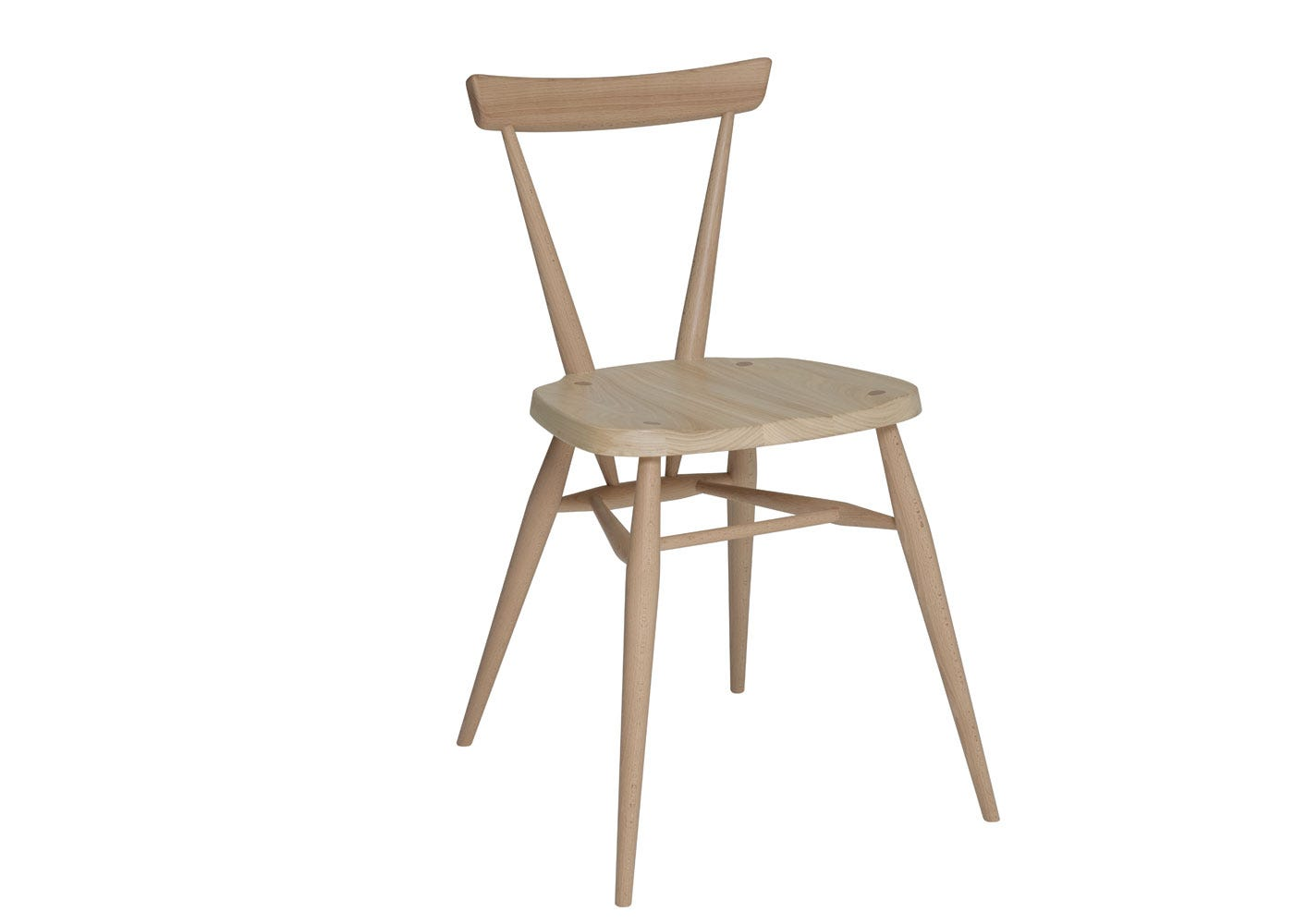 As shown: Originals Stacking Chair Beech and Elm  - Side Profile.