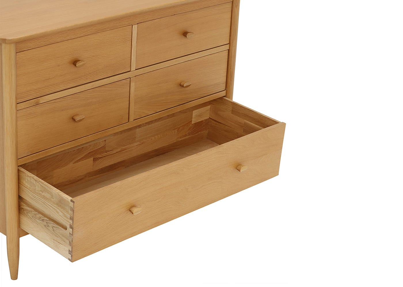 Teramo 5 Drawer Wide Chest - Drawer Open