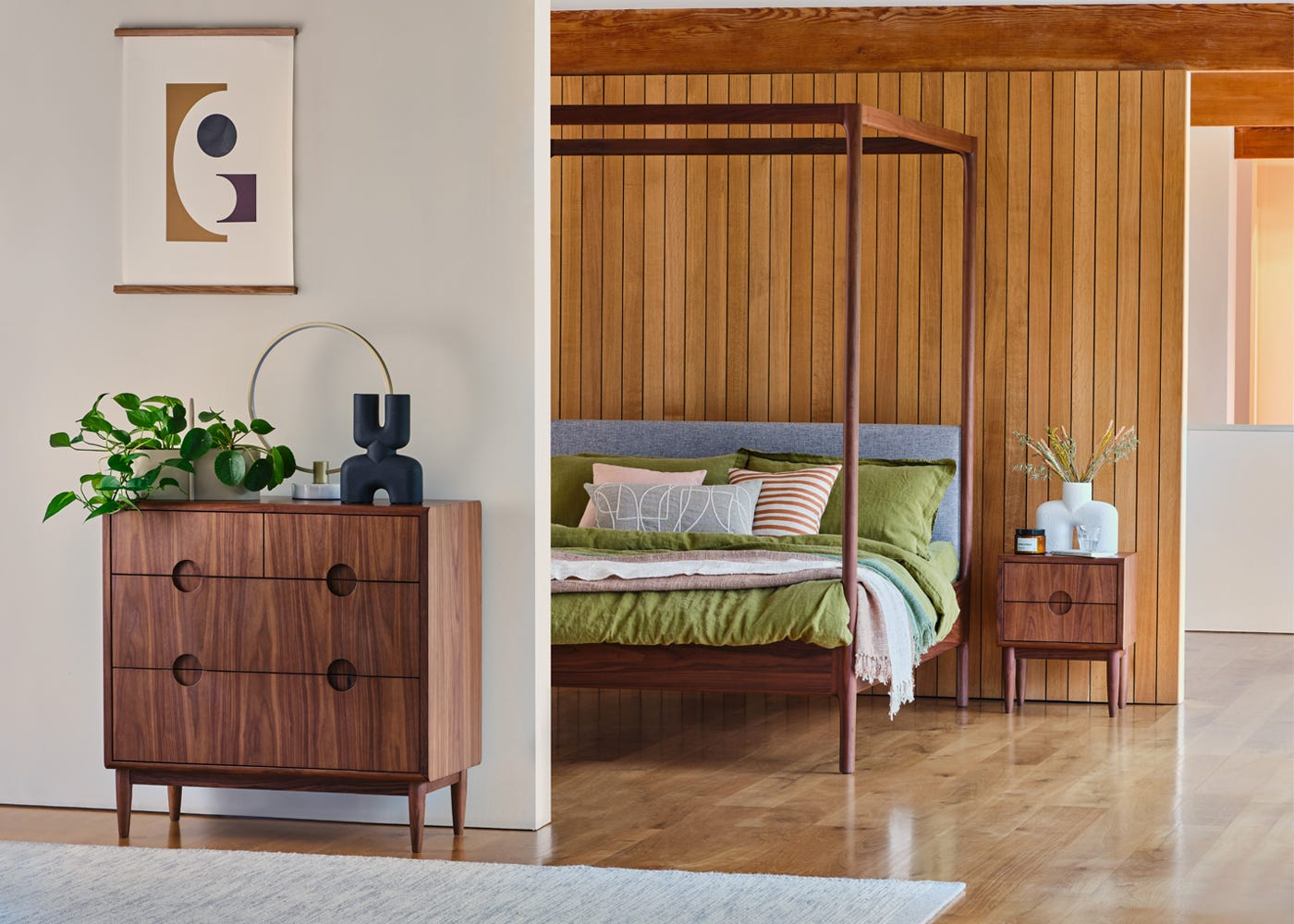 Paired here with the Marlow Bed and Amira bedroom furniture