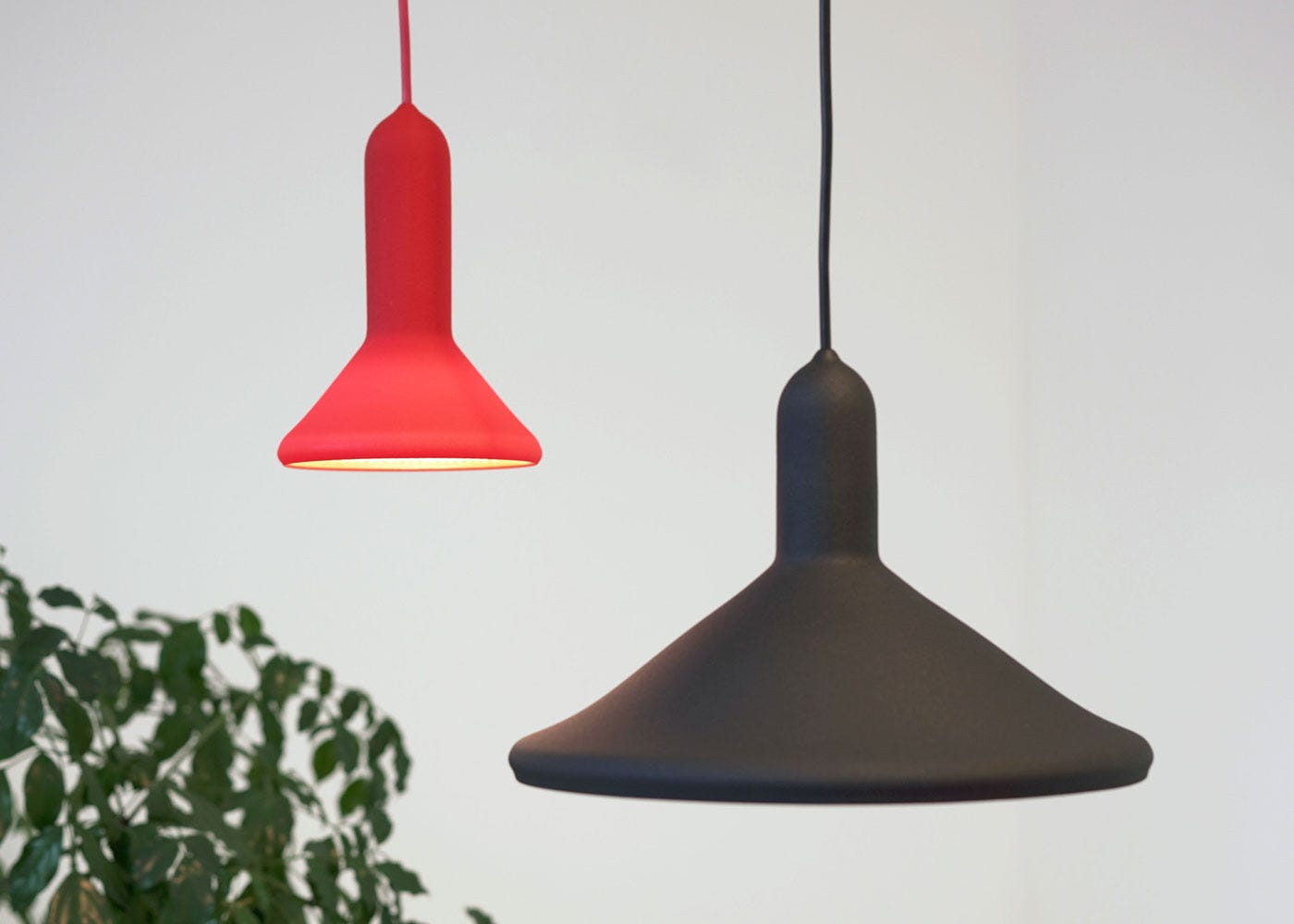 As shown: Torch pendant light collection.