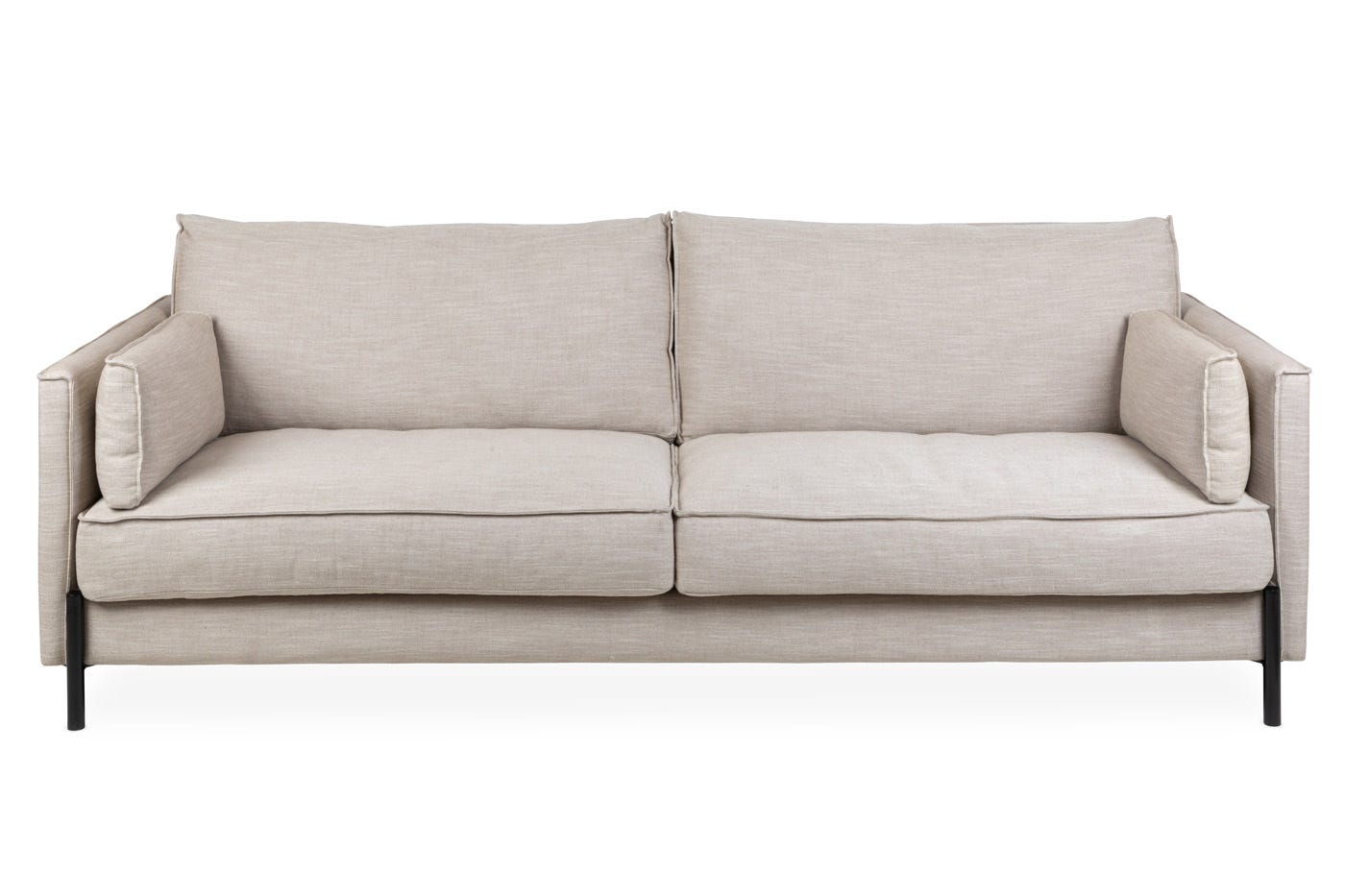 Tortona 4 Seater Sofa in Broad Weave Putty - Front