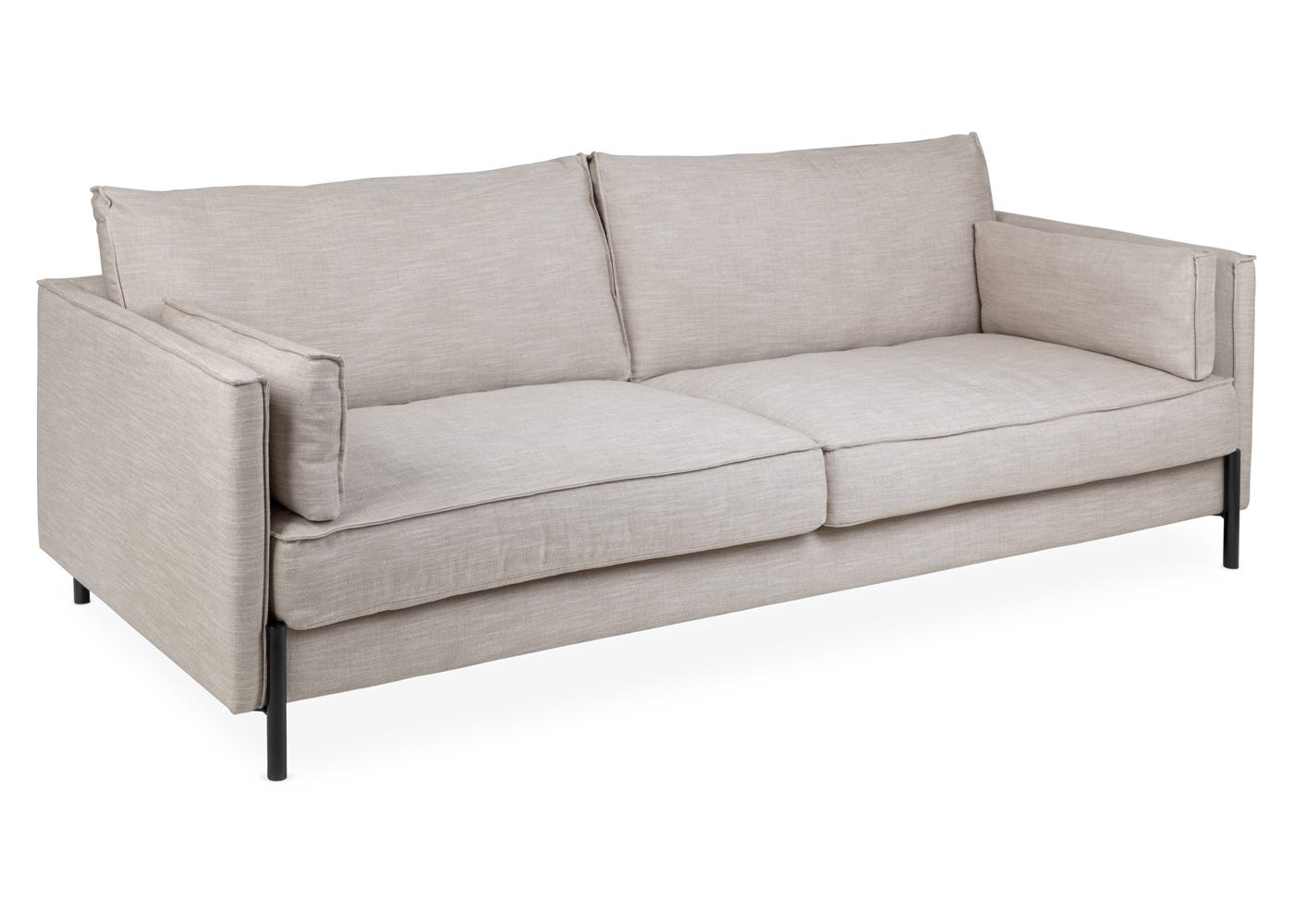Tortona 4 Seater Sofa in Broad Weave Putty - Angle