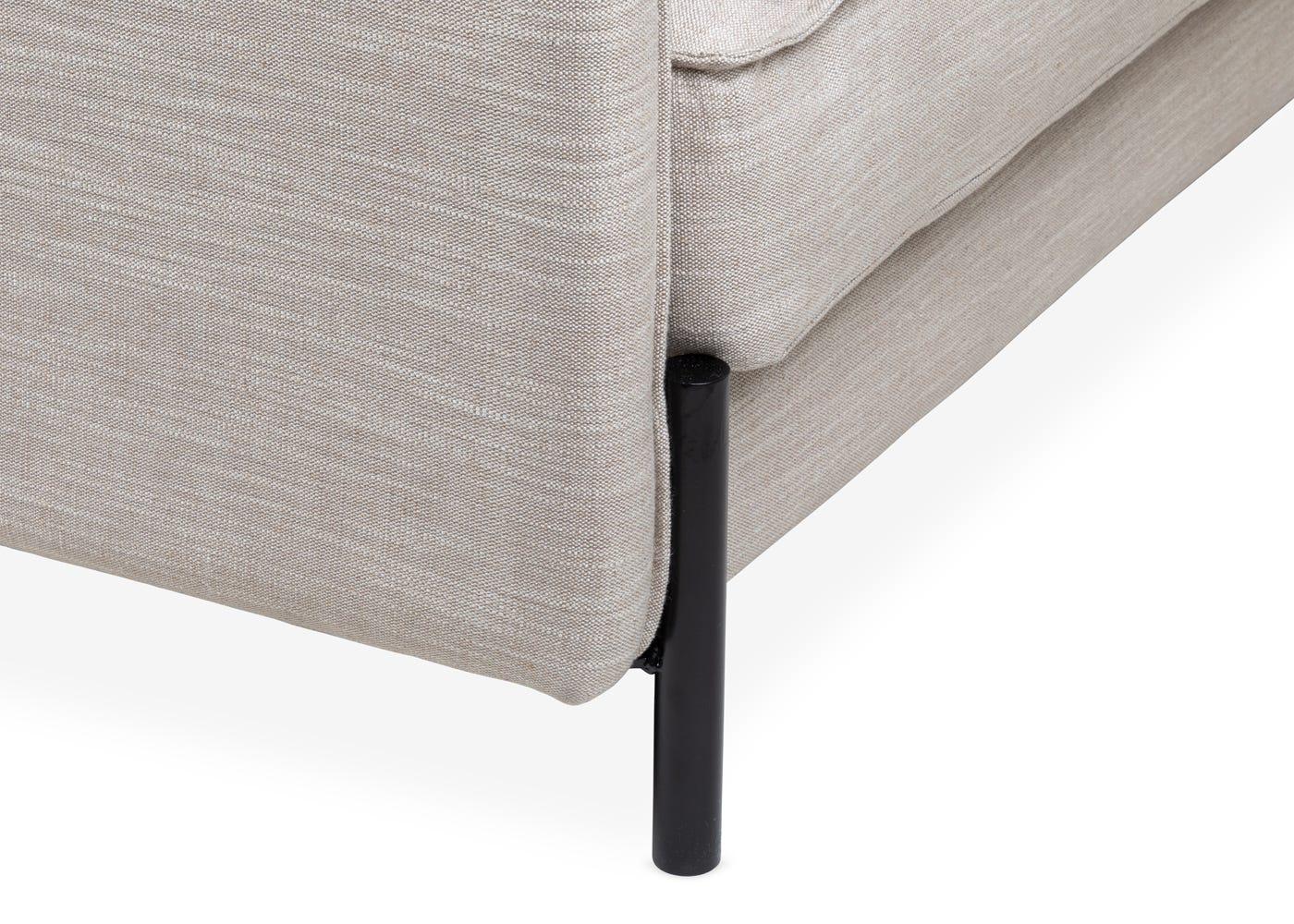 Tortona 4 Seater Sofa in Broad Weave Putty - Leg