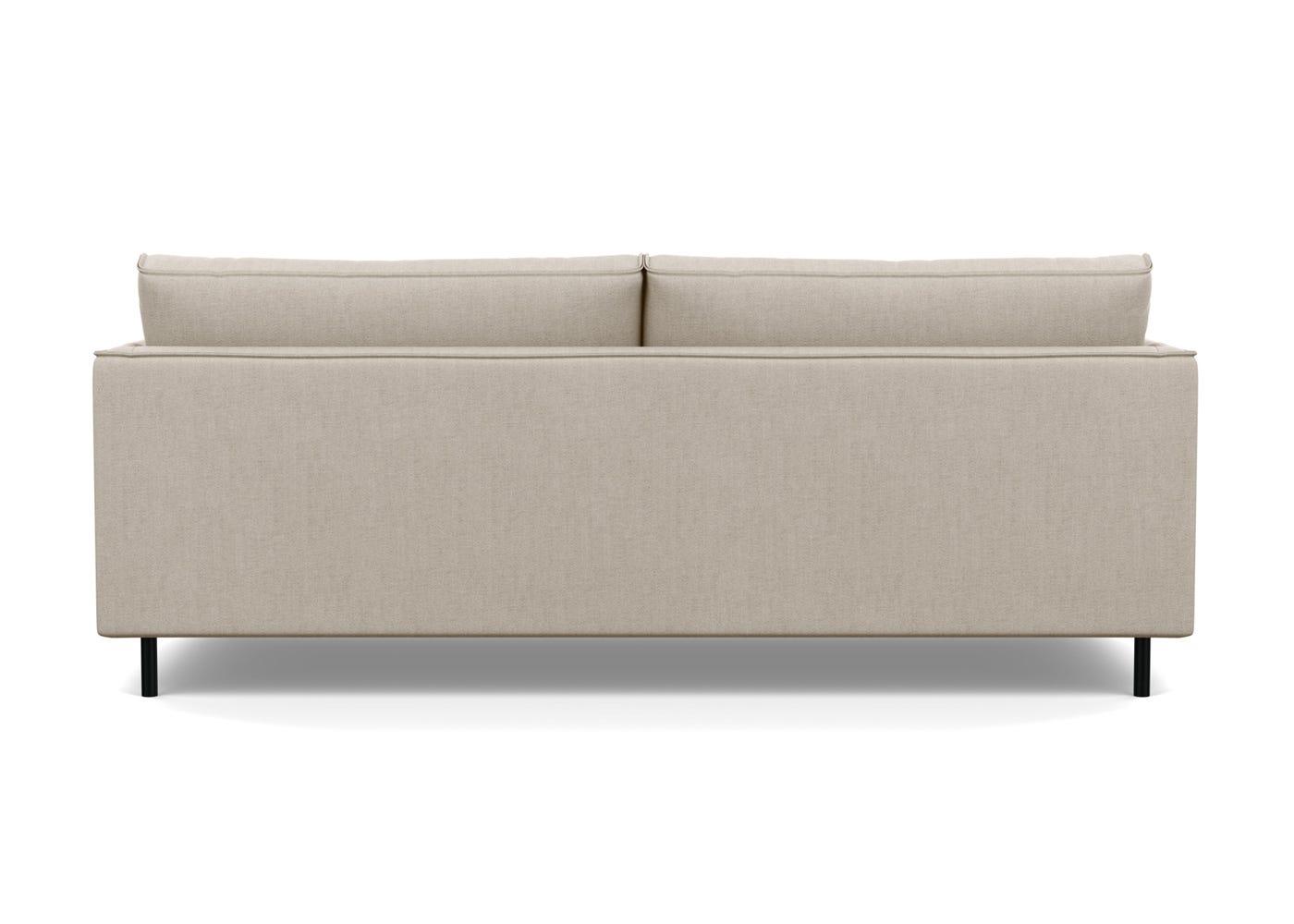 Tortona 3 Seater Sofa in Broad Weave Putty - Rear