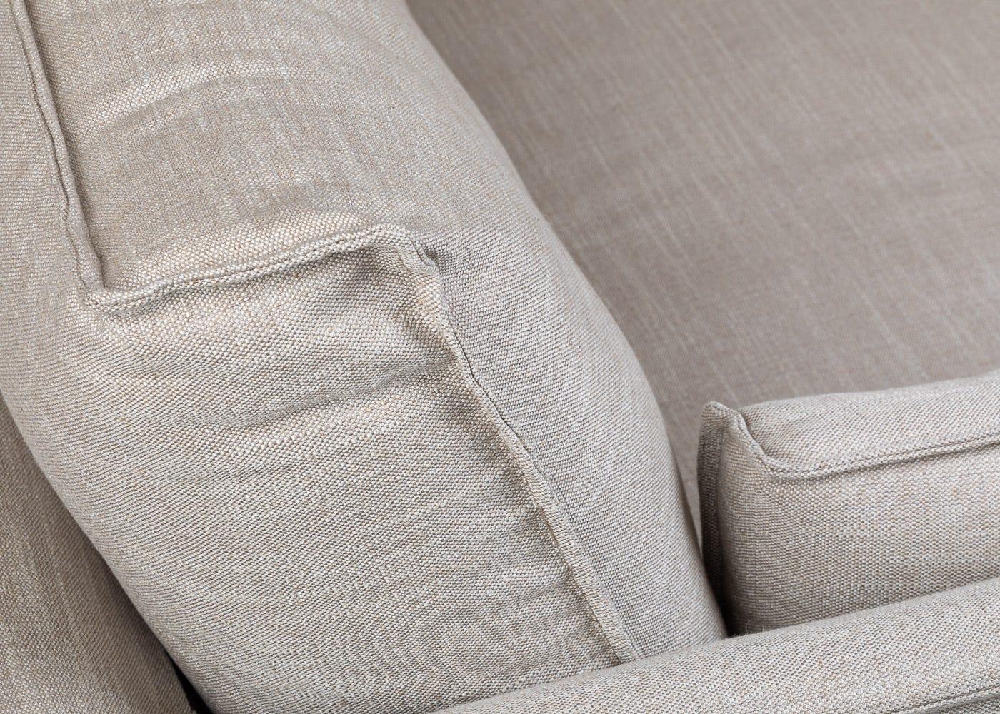 Tortona 4 Seater Sofa in Broad Weave Putty - Cushion