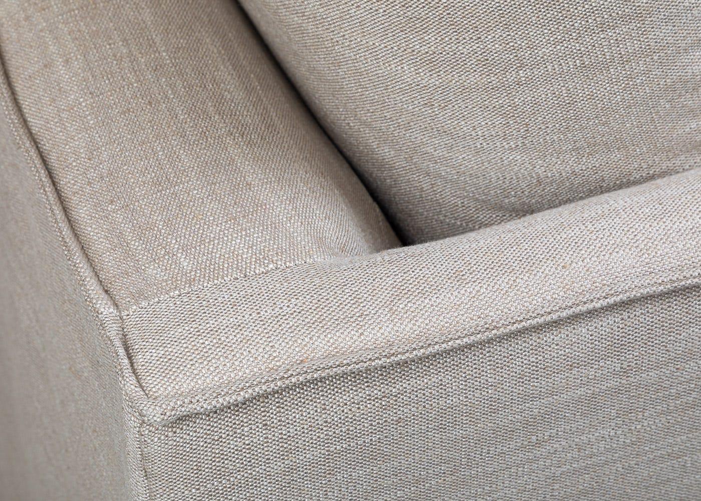 Tortona 3 Seater Sofa in Broad Weave Putty - Corner