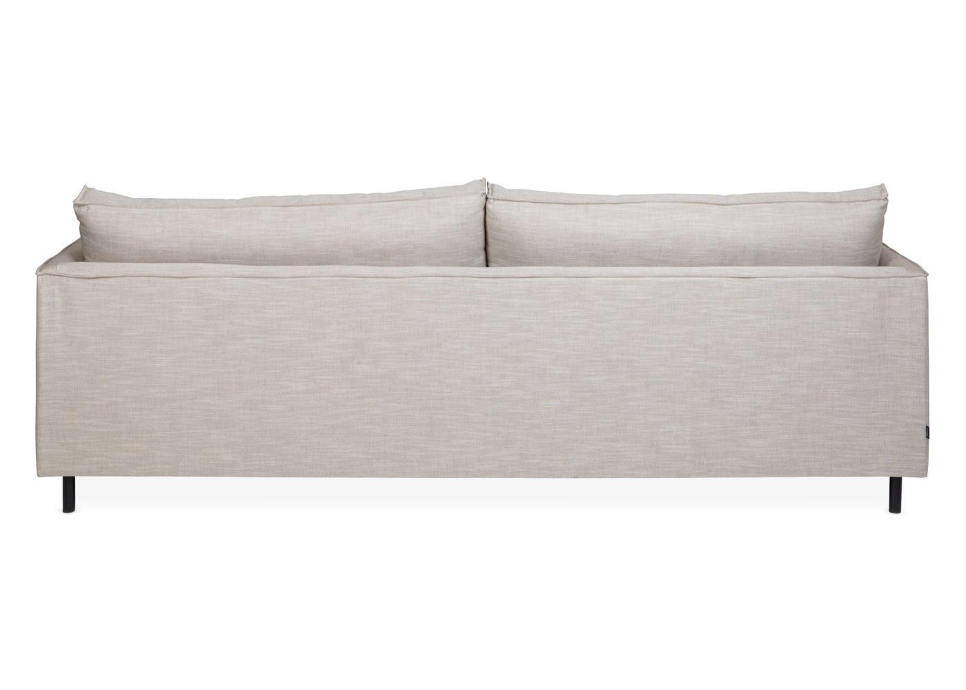 Tortona 4 Seater Sofa in Broad Weave Putty - Rear