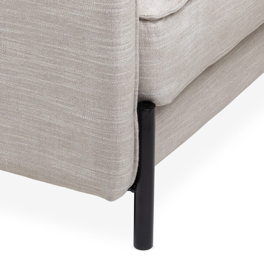 The whole range is elevated with black powder-coated metal legs