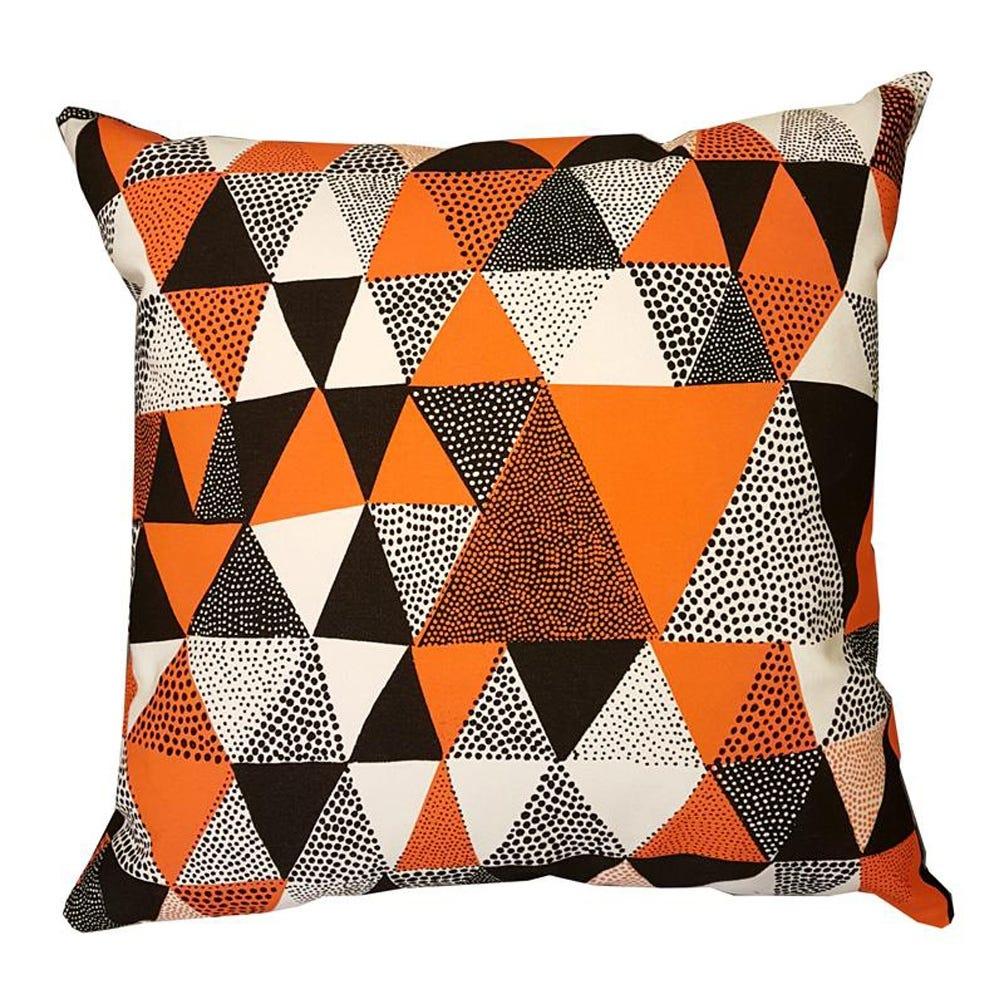 Lush Designs Triangles Cushion Orange