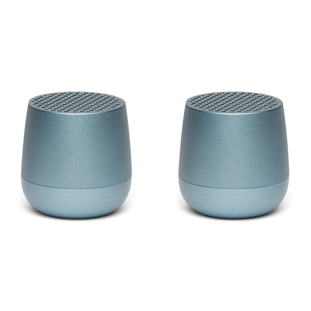 Lexon TWIN MINO Bluetooth Speaker Set of 2 Light Blue