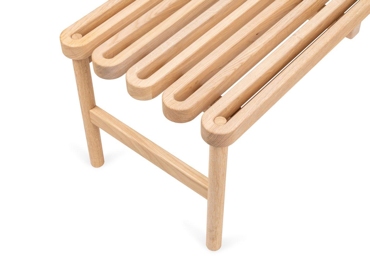 Solid oak bench top.