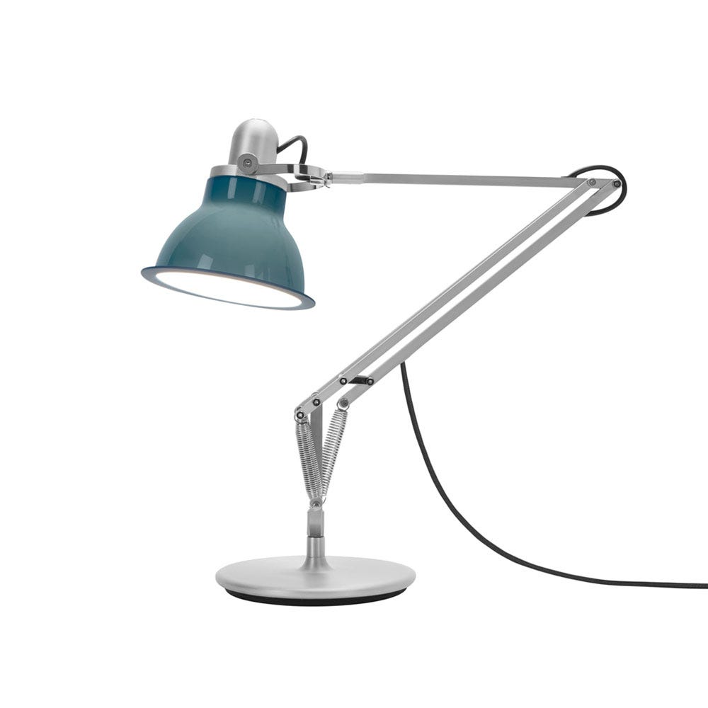 Type 1228 Desk Lamp Ocean Blue On