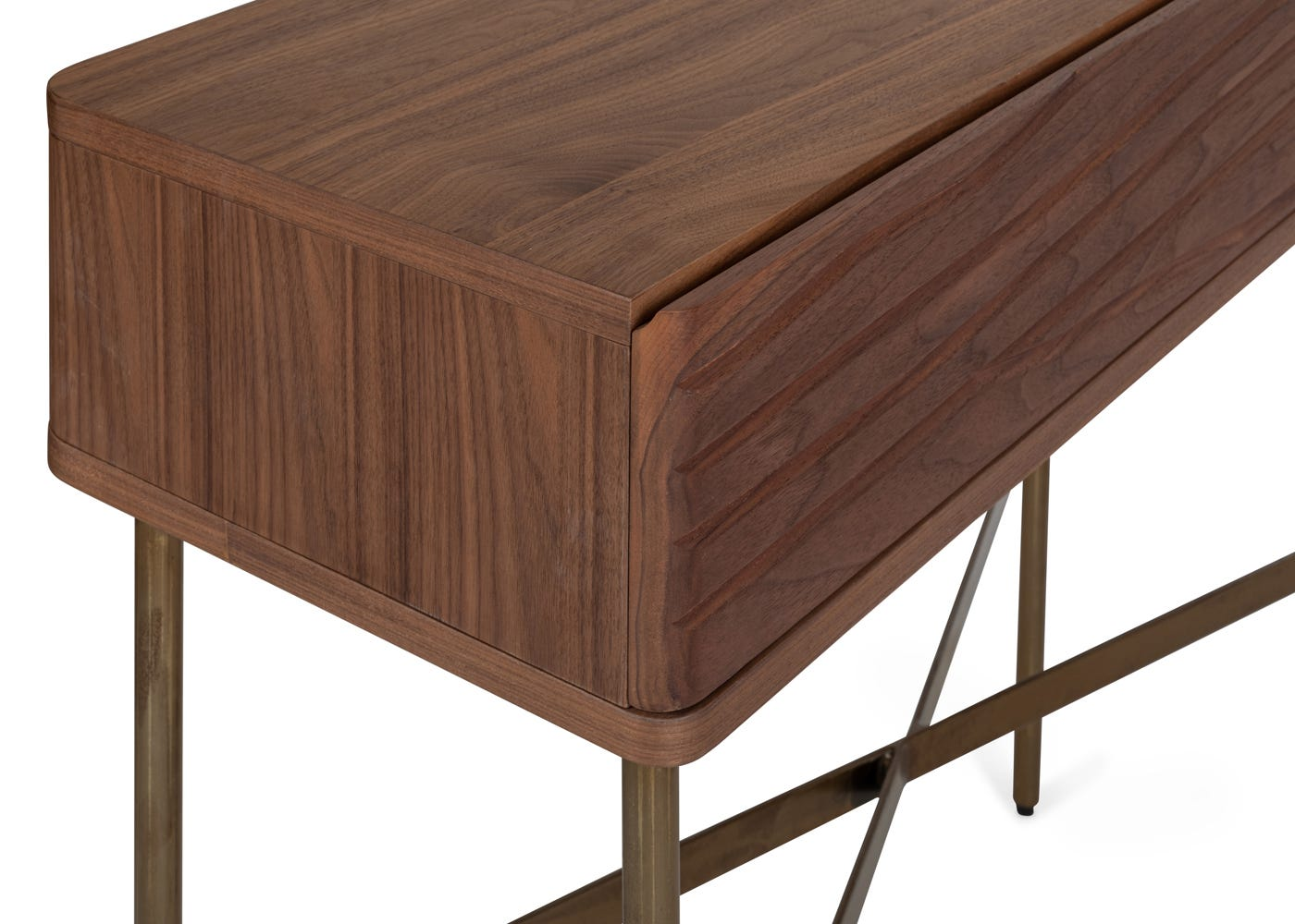 As shown: Walnut front.