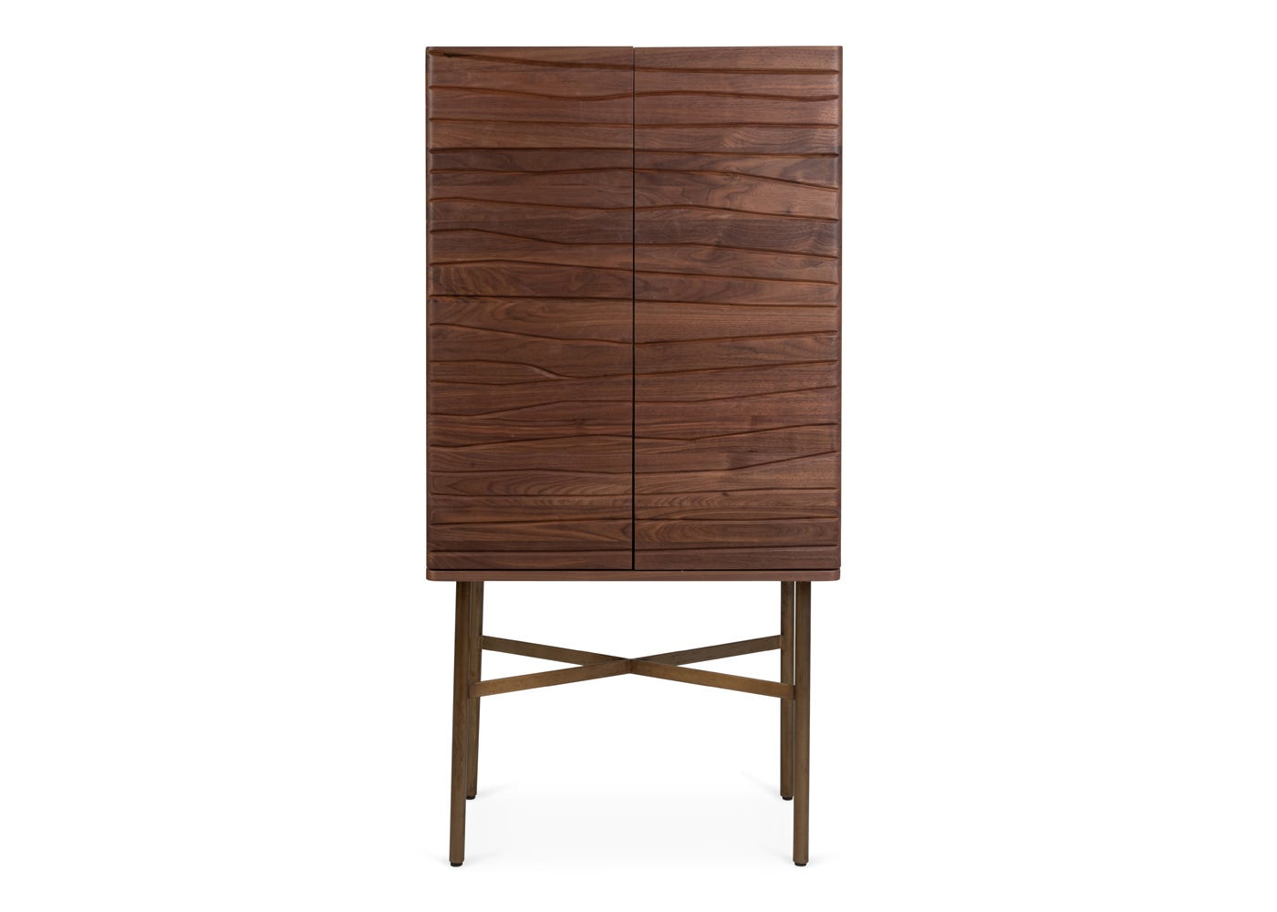 As shown: Valentina drinks cabinet - Front profile.